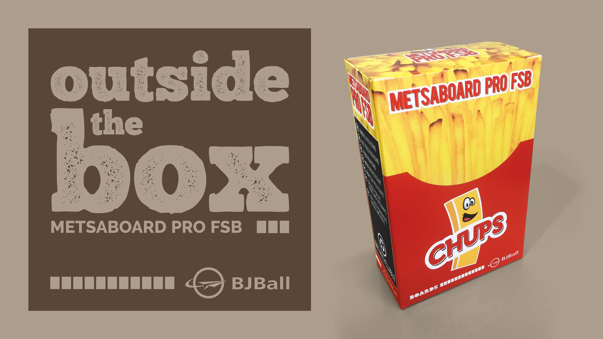 Colourful Metsaboard Pro FSB Carton Example - Hot Chips Box