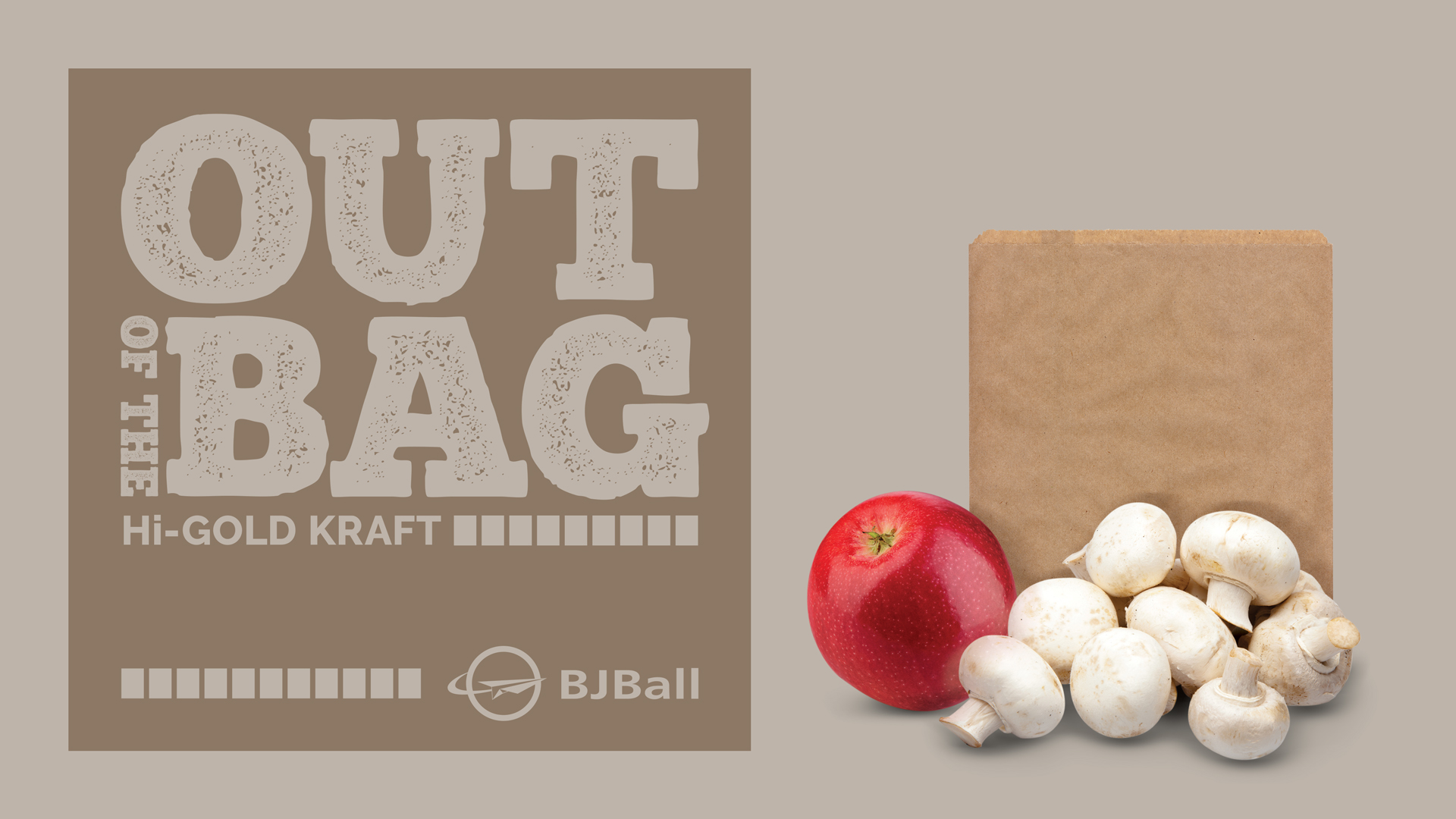 Kraft paper bag with fruit & vegetables