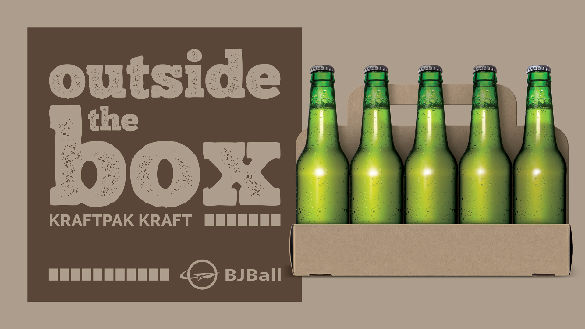 Six Pack Beer Bottle Holder Kraftpak Kraft Carton Example